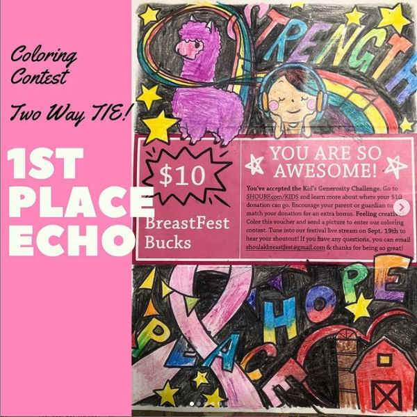 Colorful drawing from Echo Coloring Contest Winner